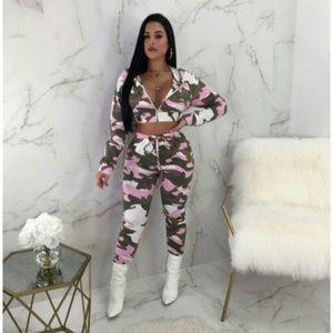 Pants - Pink camo set